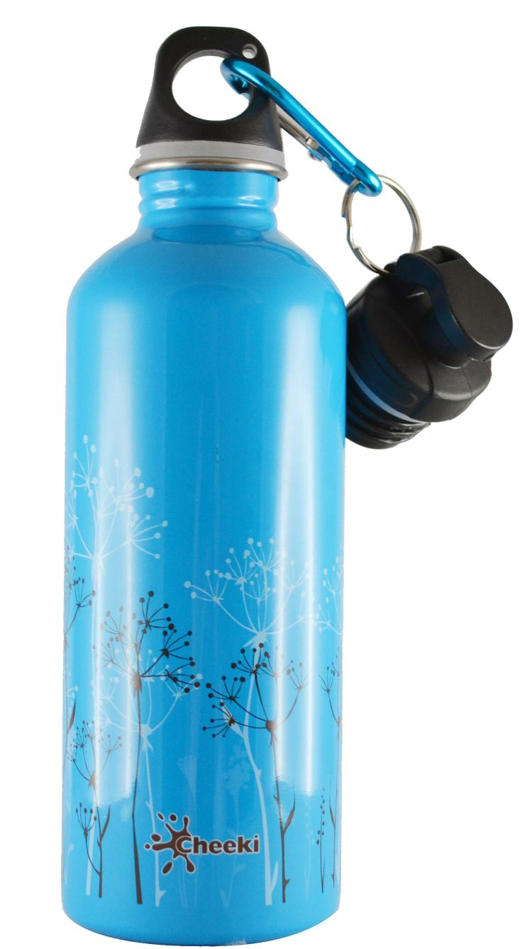 Sip on your drink of choice in style! Smart and trendy Cheeki stainless steel water bottles for tweens, teens and adults alike is a healthy, fun and eco-friendly way to avoid wasting money on bottled water!