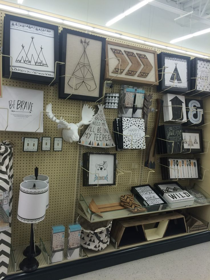 Hobby lobby. Love this teepee and arrow theme for baby room. Would look great with gray buffalo check curtains or rug!!
