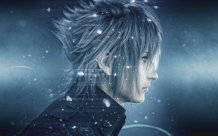Descargar fondos de pantalla Noctis, 4k, personajes, acción, Final Fantasy XV