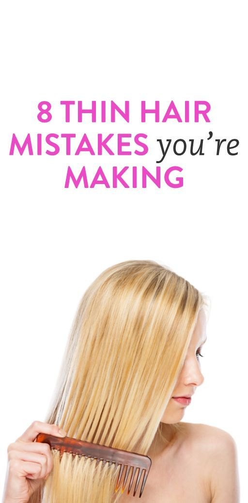 8 Thin Hair Mistakes your're Making