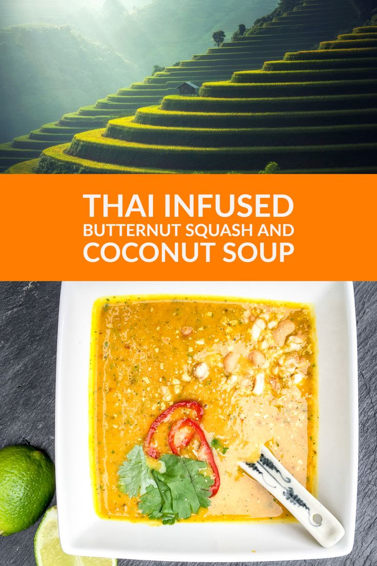 Looking for Awesome Autumn recipes? Try my Thai Infused Butternut Squash and Coconut Soup. Quick, simple and delicious.