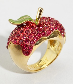 "Disney Couture ""one bite"" apple ring"