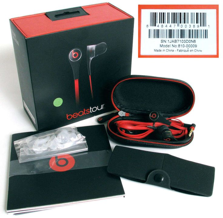 $69.95 Dr. Dre Beats Tour In-Ear Headphones New in Retail Box with All Accessories #BeatsbyDrDre