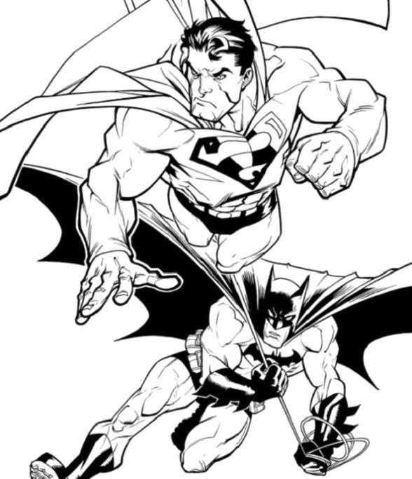 Superman And Batman Coloring Pages - Batman cartoon ...