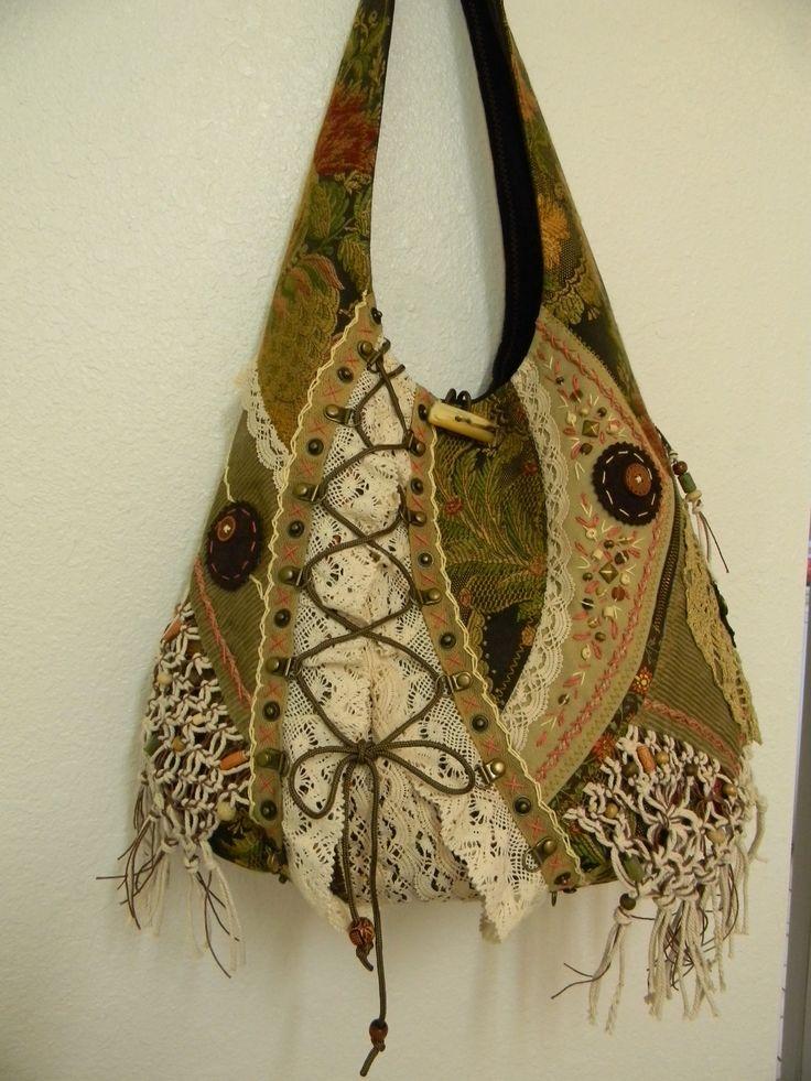 hippie hobo bag, nicely made