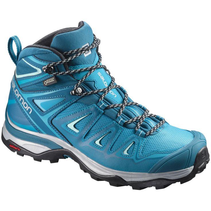 X ULTRA 3 MID GTX, vandringskänga dam Boots, Damskor och Blå