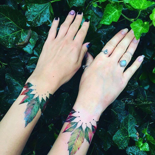 Nature tattoos, art, painting style. Russian tattoo artist. Instagram account is awesome!! #pissarotattoo