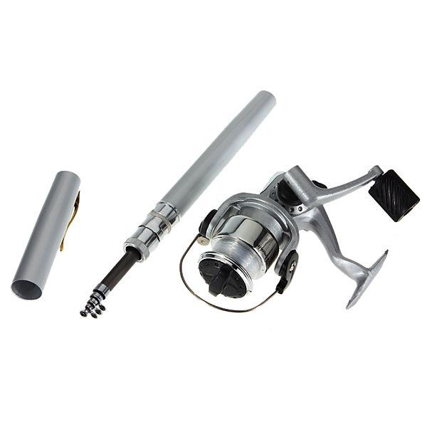 ZANLURE PFS-01 Mini Telescopic Portable Pocket Pen Shape Aluminum Alloy Fishing Rod Reel Line set