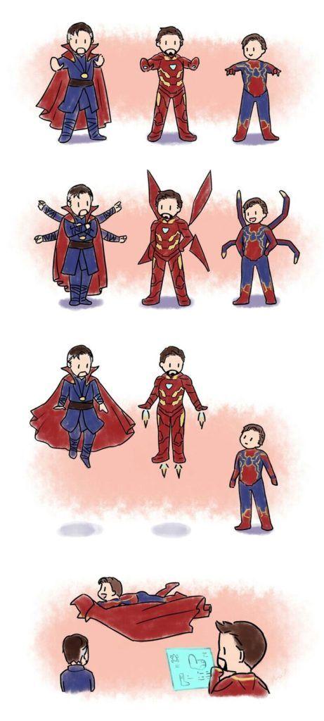 Avengers Infinity War || Dr. Strange Spider-Man & Iron Man || Cr: moyhconan