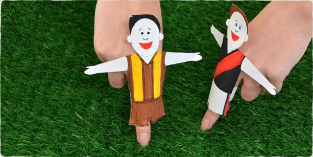 Footy Player Finger Puppets - Micador