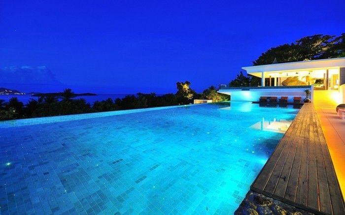 Luxus pool  luxus pool idee für einen schönen pool für garten | Luxuriöse ...