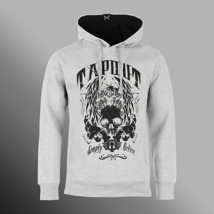 Mikina TAPOUT Skull and Eagle light grey