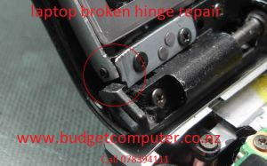 Laptop hinge are fragile and easy to break. Budget computer Hamilton expertise in laptop broken hinge repair in Hamilton Waikato. Laptop hinges are hard to source and pretty expensive but at budget computer Hamilton we repair the laptop broken hinge with metal welding or by plastic wending which gives laptop broken hinge same strength as new.