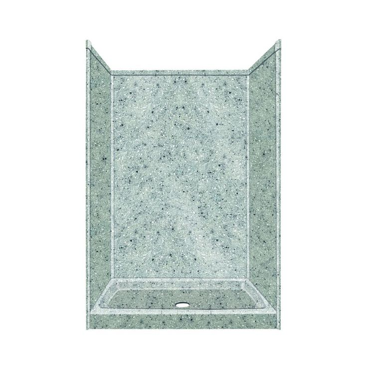 Transolid Decor Decor Matrix Dusk/Stone Compostie Wall and Floor 5-Piece Alcove Shower Kit (Common: 32-in x 48-in; Actual: 72-in x 32-in x 48-in)