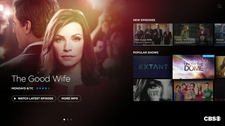 CBS TV UI/UX Concept on Behance