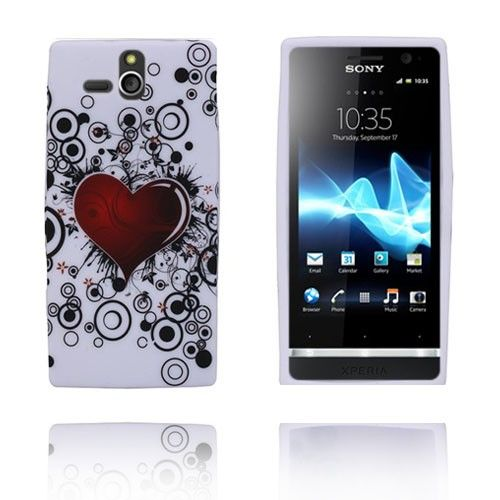 Symphony (Rødt Hjerte) Sony Xperia U Deksel