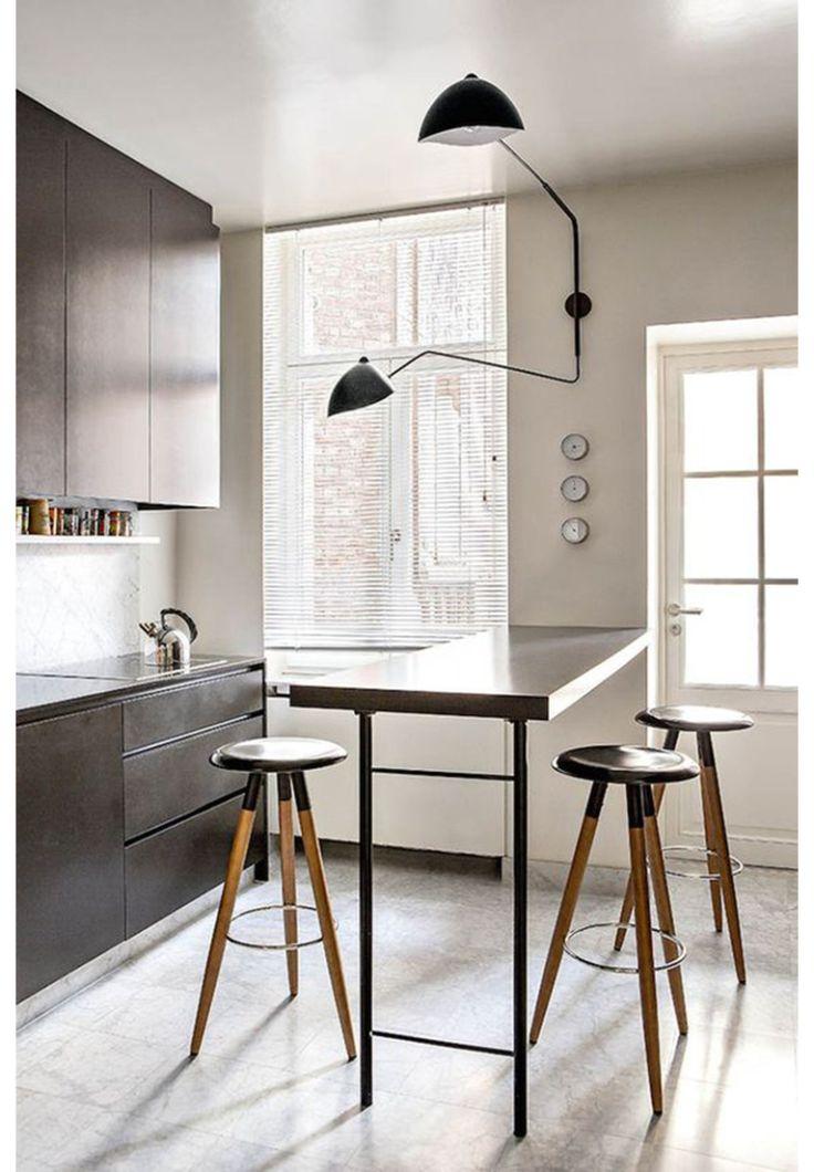 25 beste idee n over keuken bartafel op pinterest keuken bars ontbijttafel keuken en keuken - Luminai re voor de keuken bar ...