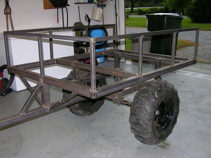Build Your Own Golf Cart Kit >> Anyone make or have plans for ATV trailer? | ATV stuff | Pinterest | Atv trailers, Search and ...