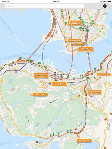 Techkinesis Inc | Travel | iPad | Hong Kong Tourist Map $0.00 | ver.1.0.1| $0.00 | This is a simple map that highlights the most popular destinations for your visit to Hong Kong. Zoom out of the map to see the locations of the ...