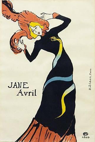 Henri de Toulouse-Lautrec - Jane Avril; 1899.