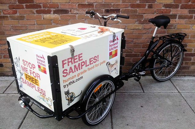 Love free swag and dog food? Be on the lookout for The Honest Kitchen's wily Bike Ninjas.