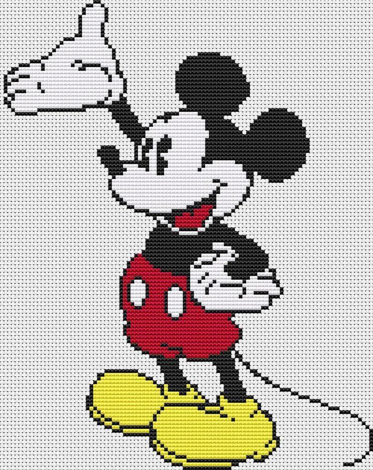 Pixels Art Disney Mickey