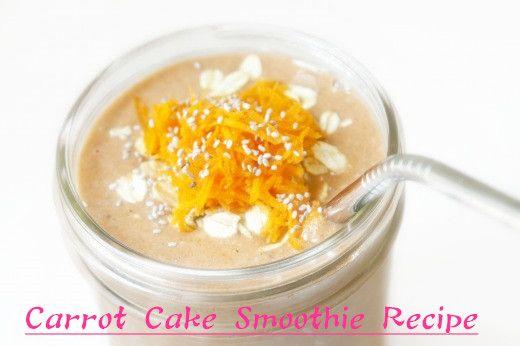 Carrot Cake http://www.healthysmoothierecipe.net/carrot-cake-smoothie-recipe/