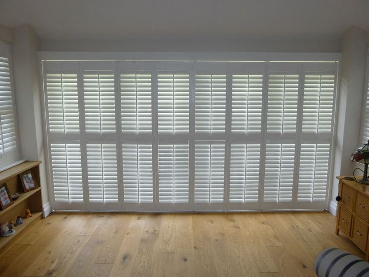 View a range of tracked window shutters from Shuttersouth, Hampshire's leading shutter design and installation experts. Custom made tracked shutters images