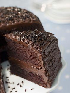 Receta de Pastel de Chocolate Fudge
