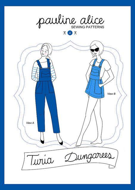 Patron de salopette Turia par Pauline Alice - Turia dungarees sewing pattern by Pauline Alice