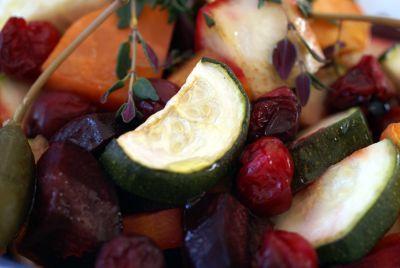 Ovnbagte Rodfrugter med Tranebær