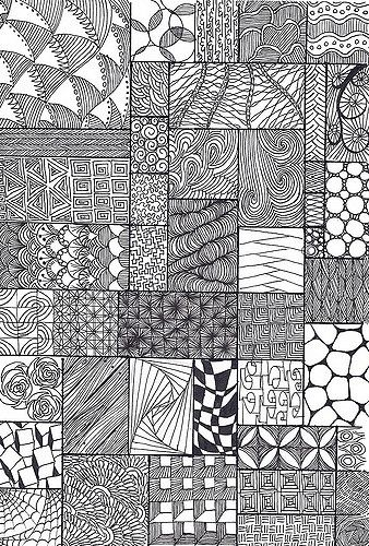 zentangle sampler | feel free to use any of these patterns | *carolion* | Flickr