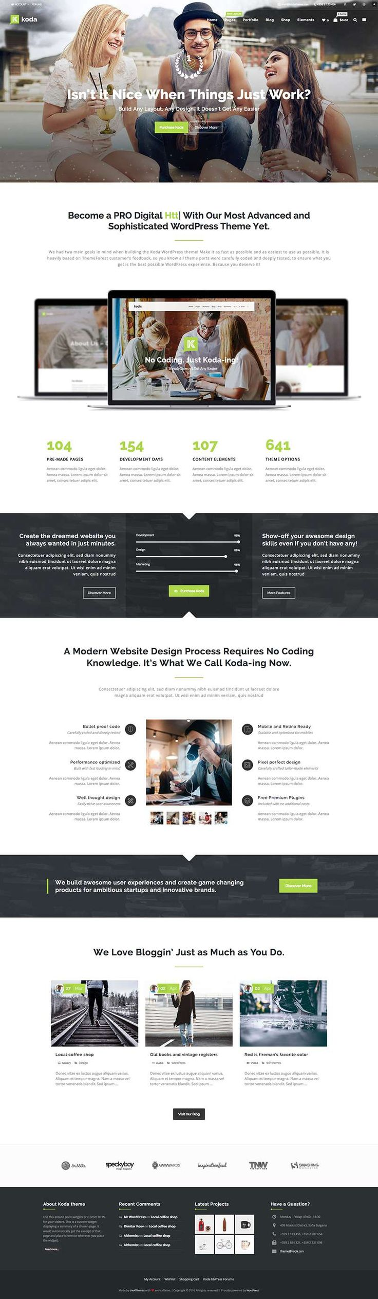 396 best WordPress Themes images on Pinterest | Engine, Fonts and ...