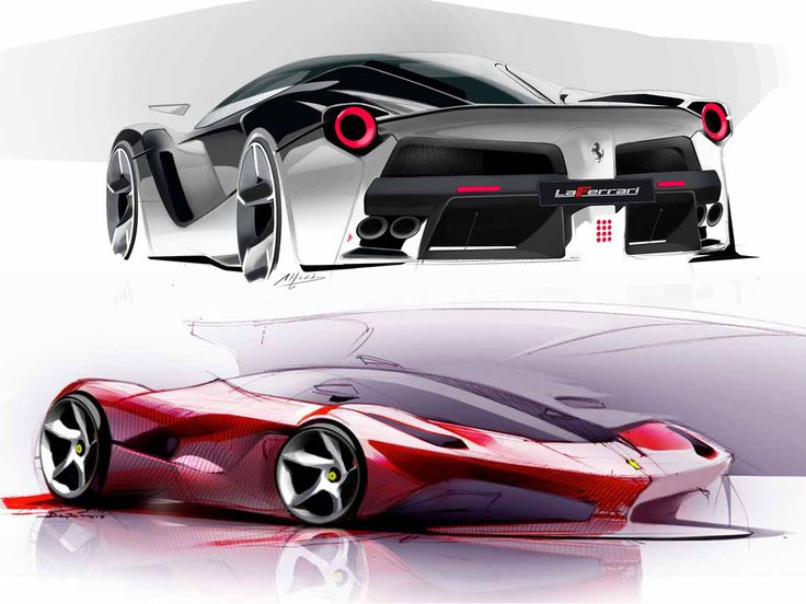 A Set Of Design Sketches And New Details On LaFerrari, The Successor To The  Ferrari Enzo Unveiled At The 2013 Geneva Motor Show.