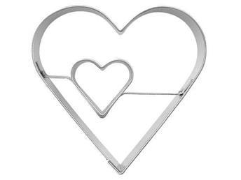 Traderaauktion: Pepparkaksform*Kakform*Dubbla hjärtan*Hjärta*
