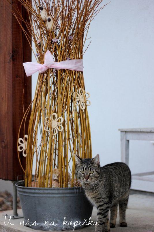 U nás na kopečku: Dekorace z vrbového proutí