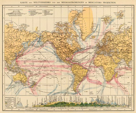Map Of The World Old Map Of The World Weltkarte In Mercator S