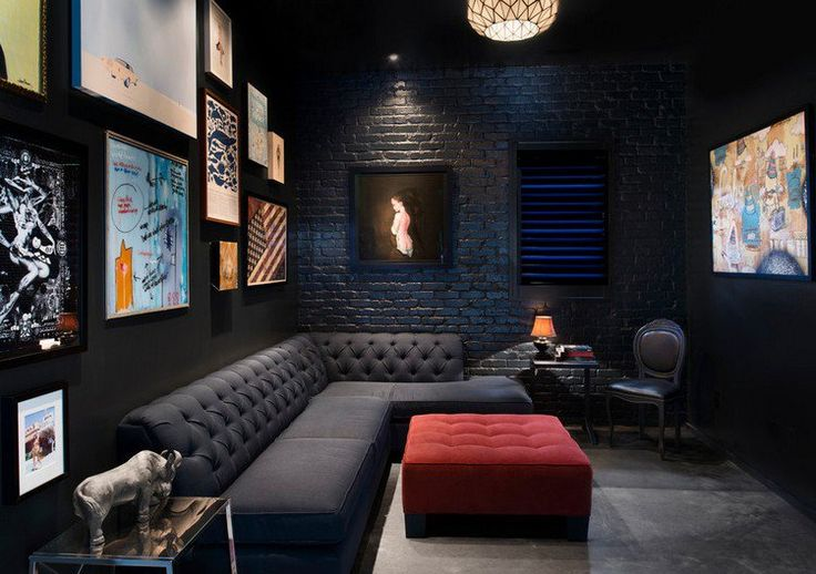Salon noir et blanc et salon gris en 50 photos remarquables salon gris rou - Salon noir et blanc et gris ...