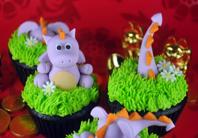 How to Make Dragon Cupcake Toppers - Super Duper ADORABLE!!
