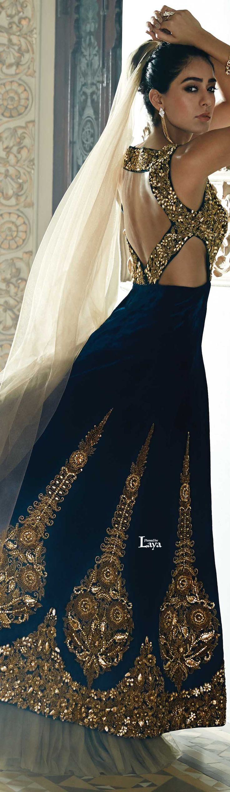 blue and olive lehenga