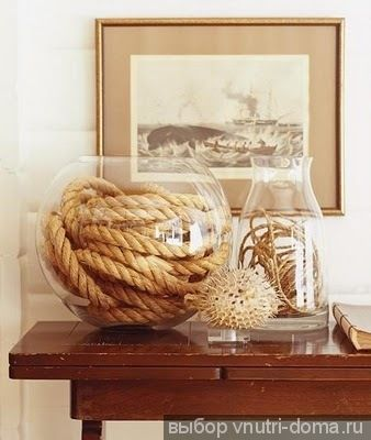 DIY nautical rope ideas | Rope in glass jars