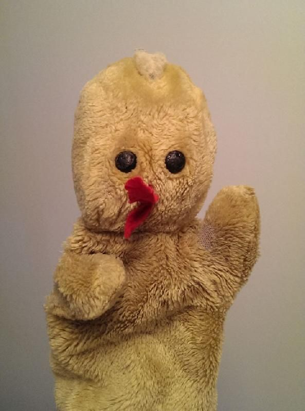 Lost on 08 Nov. 2015 @ Gran Canaria. The kindergarten mascot was lost somewhere on Gran Canaria around the 8th of November 2015. One of the kids brought it on holiday and it was forgotten. It's a chicken hand puppet which is quite old... Visit: https://whiteboomerang.com/lostteddy/msg/cg6plx (Posted by Christian on 08 Feb. 2016)