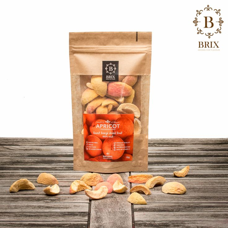 Finest freeze dried Apricots Photo courtesy of Brix-Grown for flavour #brixproducts #brixgrownforflavour #freezedriedfruitthatchangedmylife #FreezeDriedFruit #raw #vegan #healthy #crispy #apricot #natural #noaddedsugar #foodpic #flavour #tasty #health #healthyfood #product #design