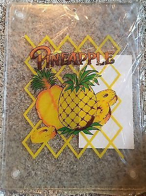 "New Vintage Cutting Board Pineapple 10"" x 13"" Retro Tropical Kitchen Summer  