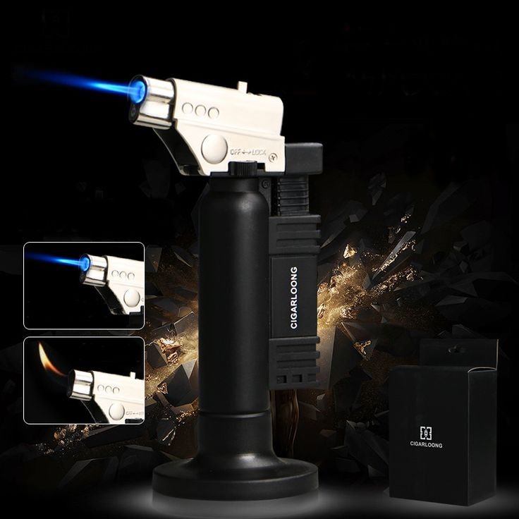 luxury Creative Black Titanium Windproof Metal Cigar Lighter W/ Soft and Hard Fire Can Be Adjusted