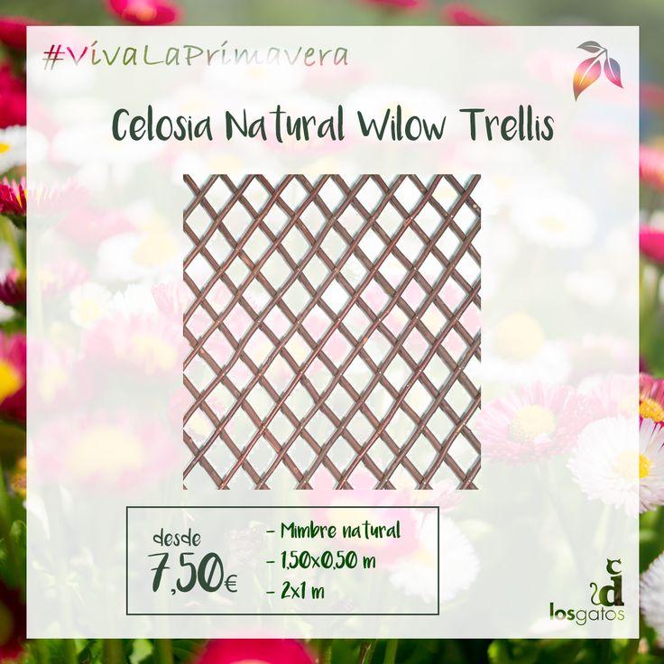 Celosía Natural Willow Trellis, de Intermas. Celosía natural de mimbre de 1,50x0,50.
