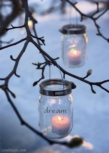 Mason Jar Lanterns party lights home outdoors candles jars inspiration decorate entertain ideas mason