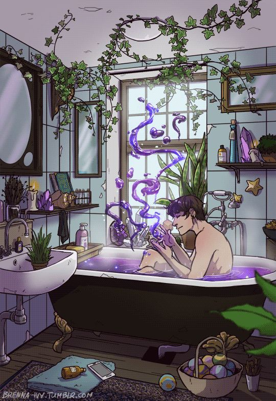 Modern Male Witch Bathroom by brenna-ivy on Tumblr