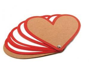 Libreta cartón forma corazón