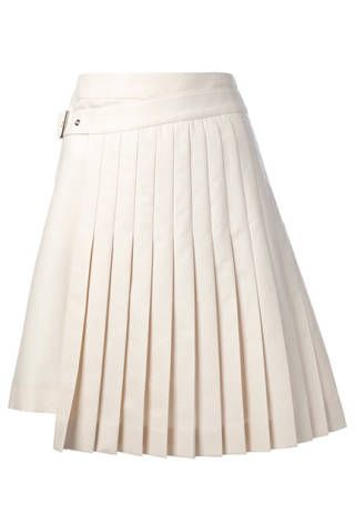 Salvatore Ferragamo Wrap Around Pleated Skirt, $892.54; farfetch.com